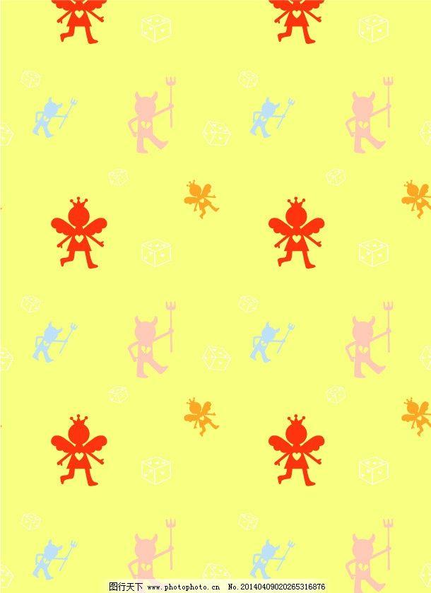 卡通背景 动物剪影 四方连续 卡通布花 卡通动物 布花 花布 面料 矢量