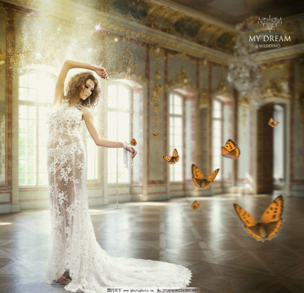 欧美模特婚纱 欧式2017