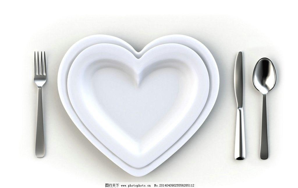 刀叉图片素材下载 刀叉 西餐 盘子 摆放 碟子 刀子 生活用品 生活百科