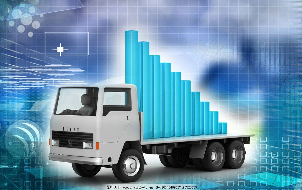 柱状图分析图卡车汽车图片