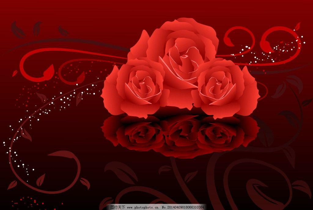 手绘玫瑰花图片_网页界面模板