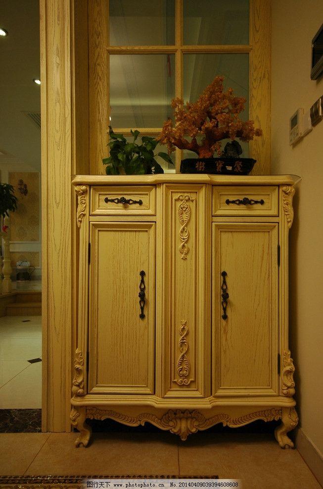 实木家具 装修 实木 餐边柜 白色 欧式 家具 室内摄影 建筑园林 摄影