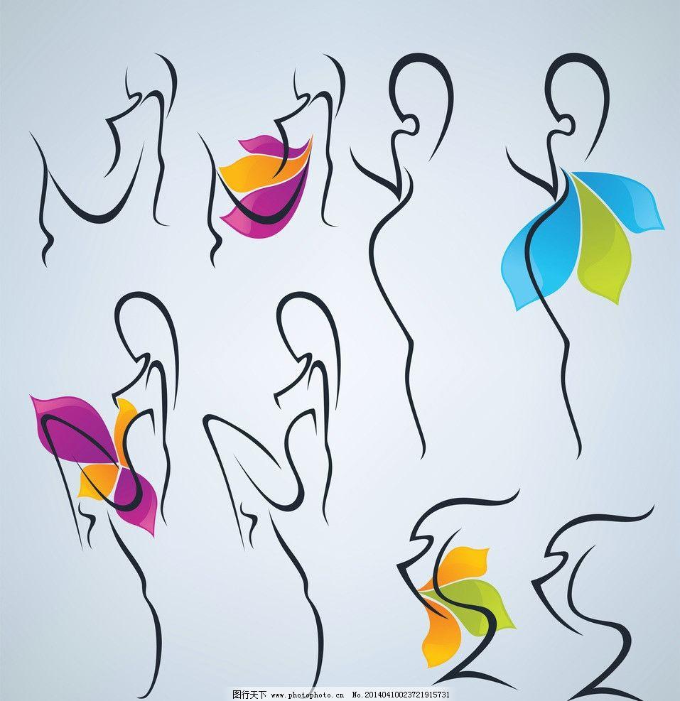 手绘女性 手绘少女 女人 少女 创意 线条 都市时尚美女 线描 时尚