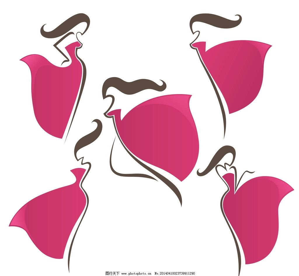 手绘女性 手绘少女 女人 创意 线条 都市时尚美女 线描 女子