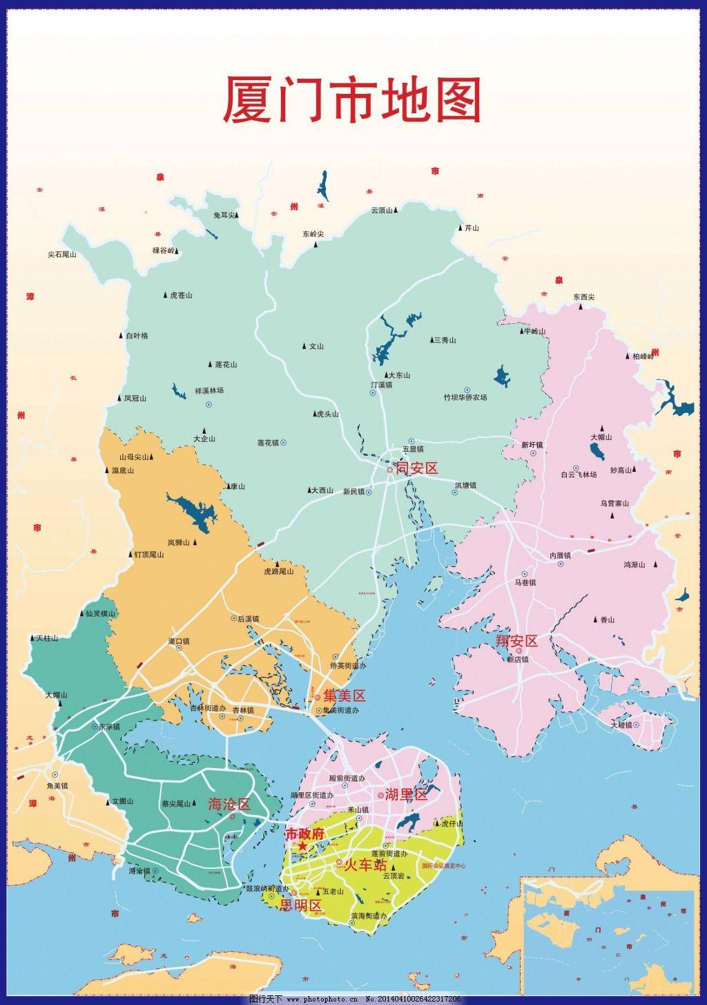 厦门市地图