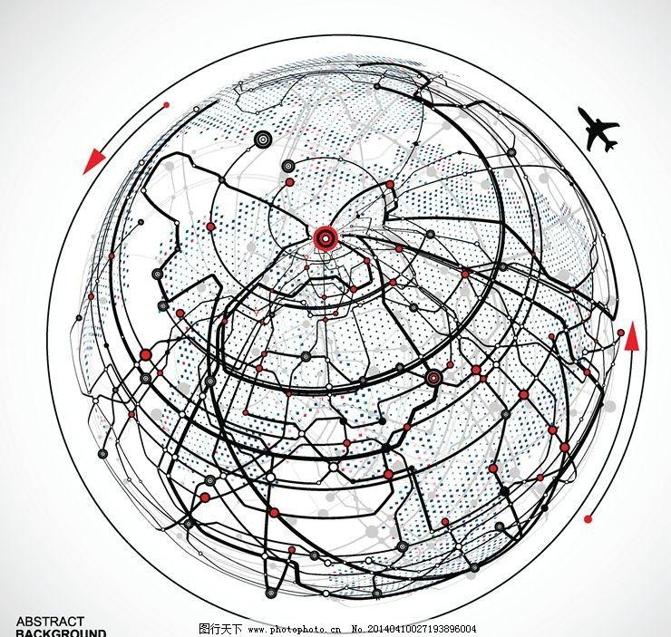 保护地球环保全球化 飞机