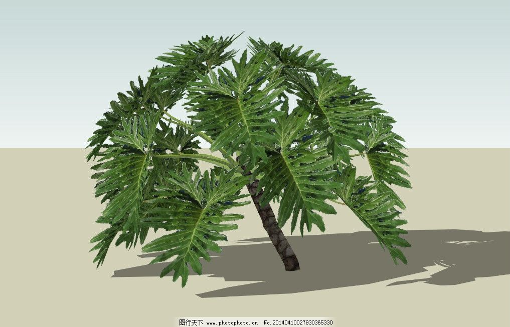 植物树 3d舞台效果图 室内场景设计 展会效果图设计 3d室内设计 室内