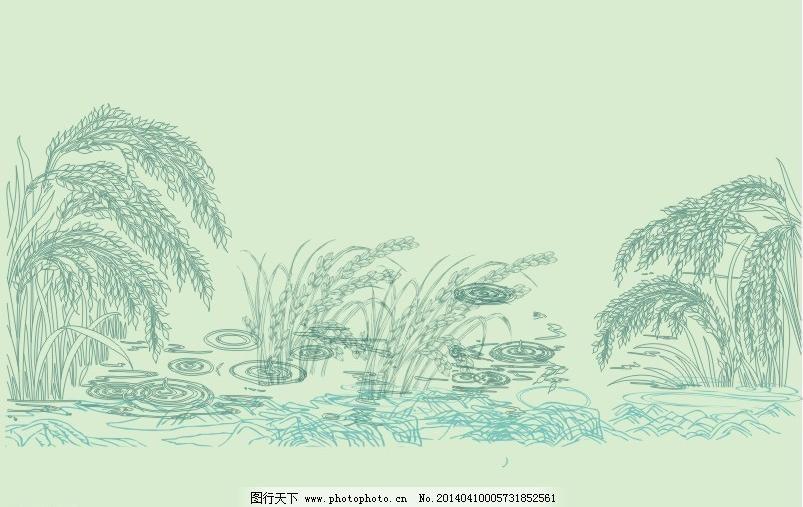 稻谷场景动漫手绘