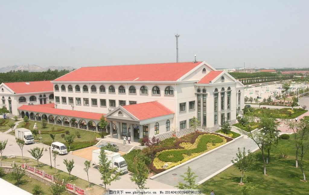 青岛港湾学院 校园风光 青岛港湾技术学院 行政楼 建筑摄影 建筑园林
