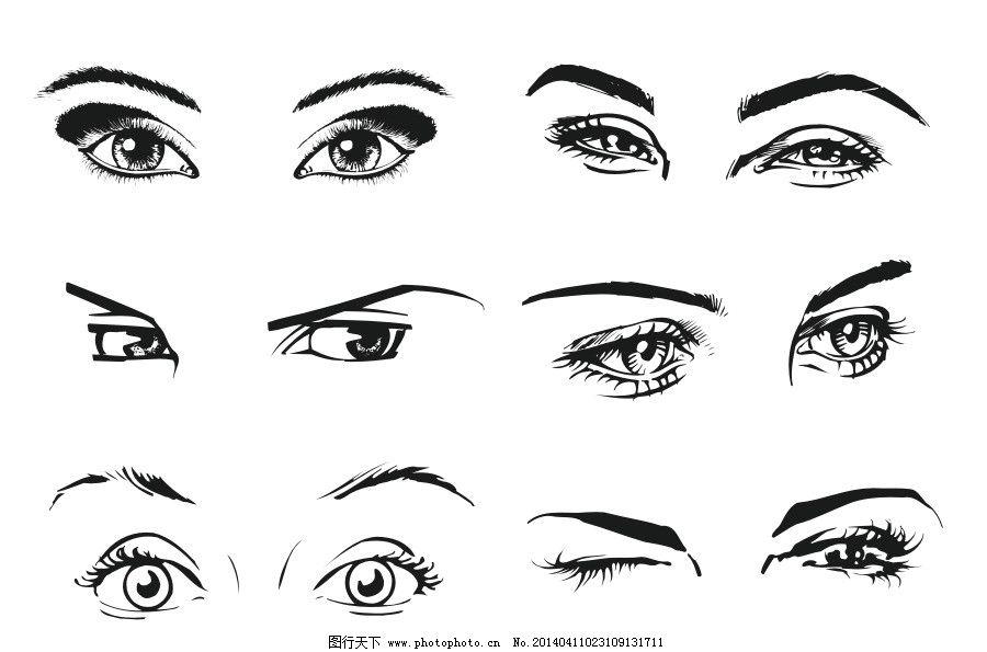 学画可爱的眼睛 壁纸