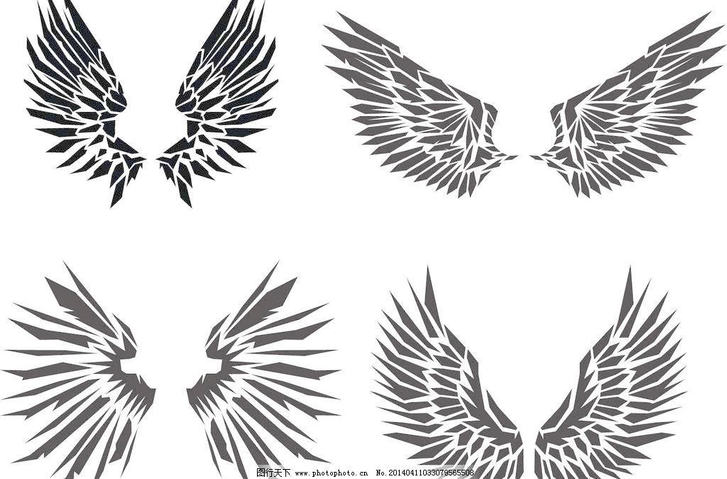 手绘侧天使翅膀的画法