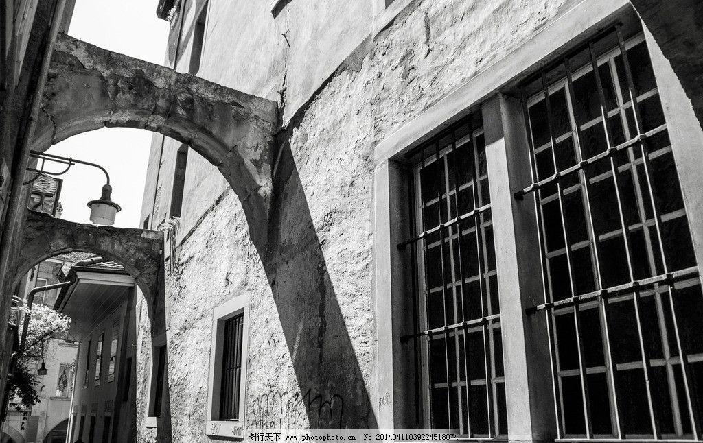 欧式建筑黑白摄影图片