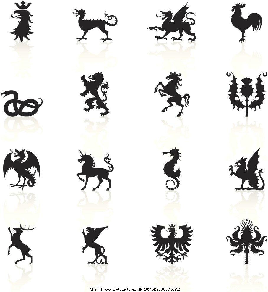 动物标志 标志 标识 标签 图标 动物 古代 其他 动漫动画 设计 300dpi