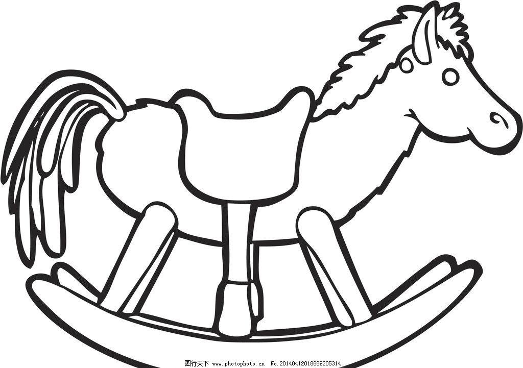 朝前看的马的简笔画画法步骤图