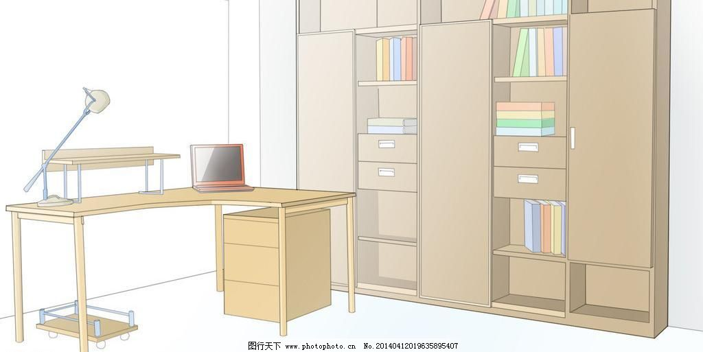 手绘办公场景图片