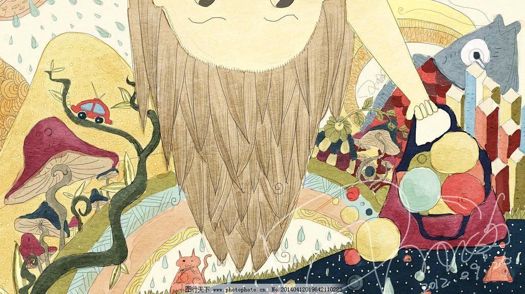 冒险设计素材 冒险模板下载 冒险 美术 中国画 装饰画 森林 动物 植物