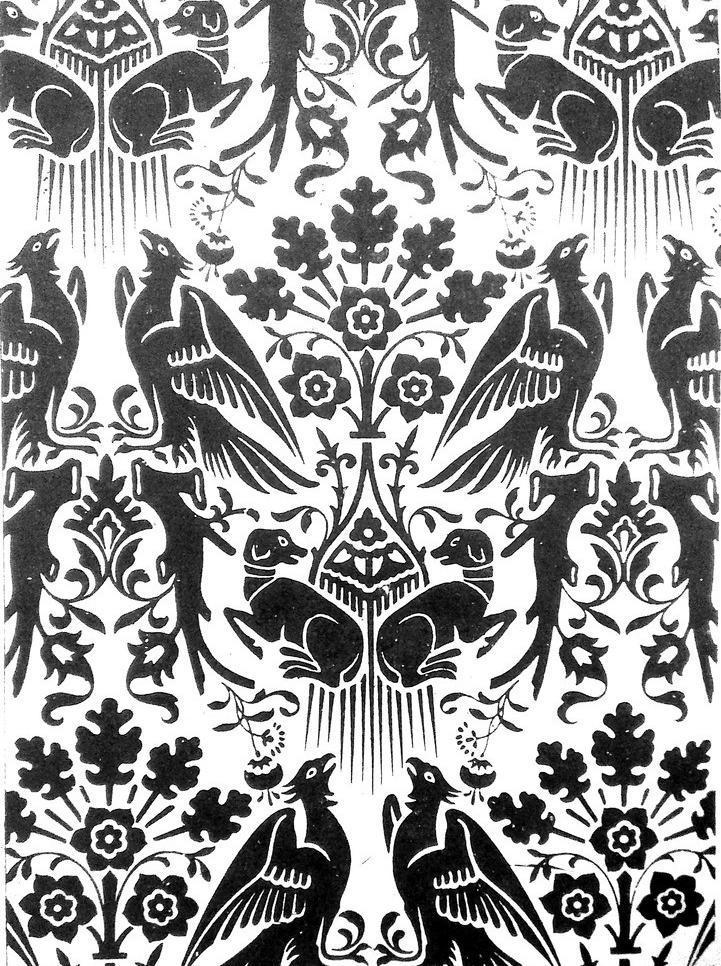 传统文化 底纹 动物 动物装饰画 狗 黑白画 花纹 动物装饰画设计素材
