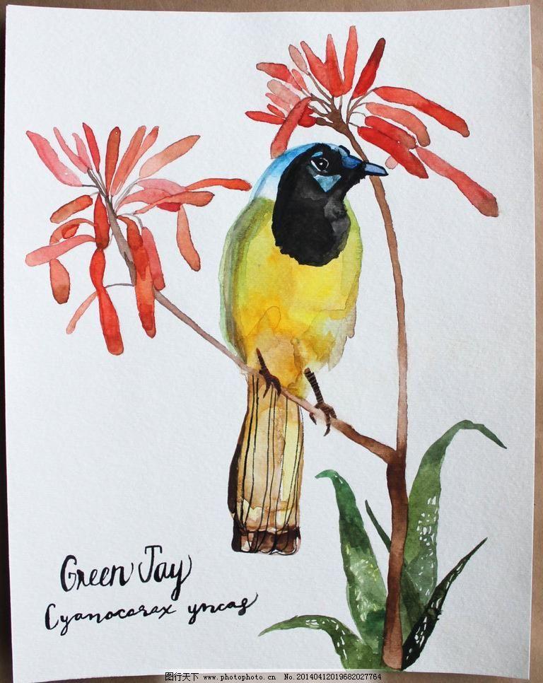 红花 绘画书法 设计 手绘 手绘水彩画 水彩画 文化艺术 手绘水彩画