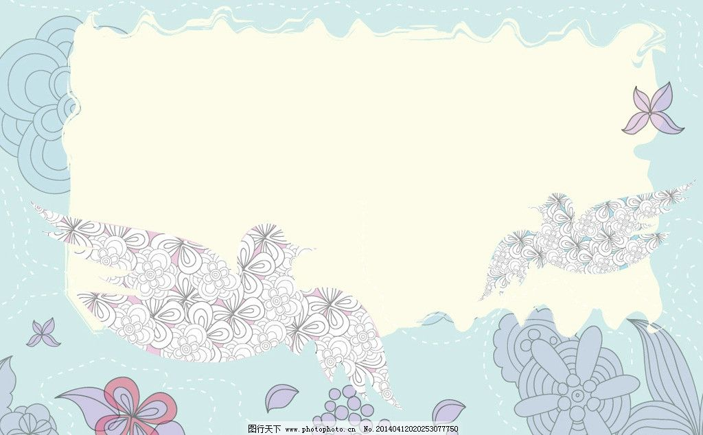 花纹 手绘花卉 春天图片_背景底纹_底纹边框_图行天下