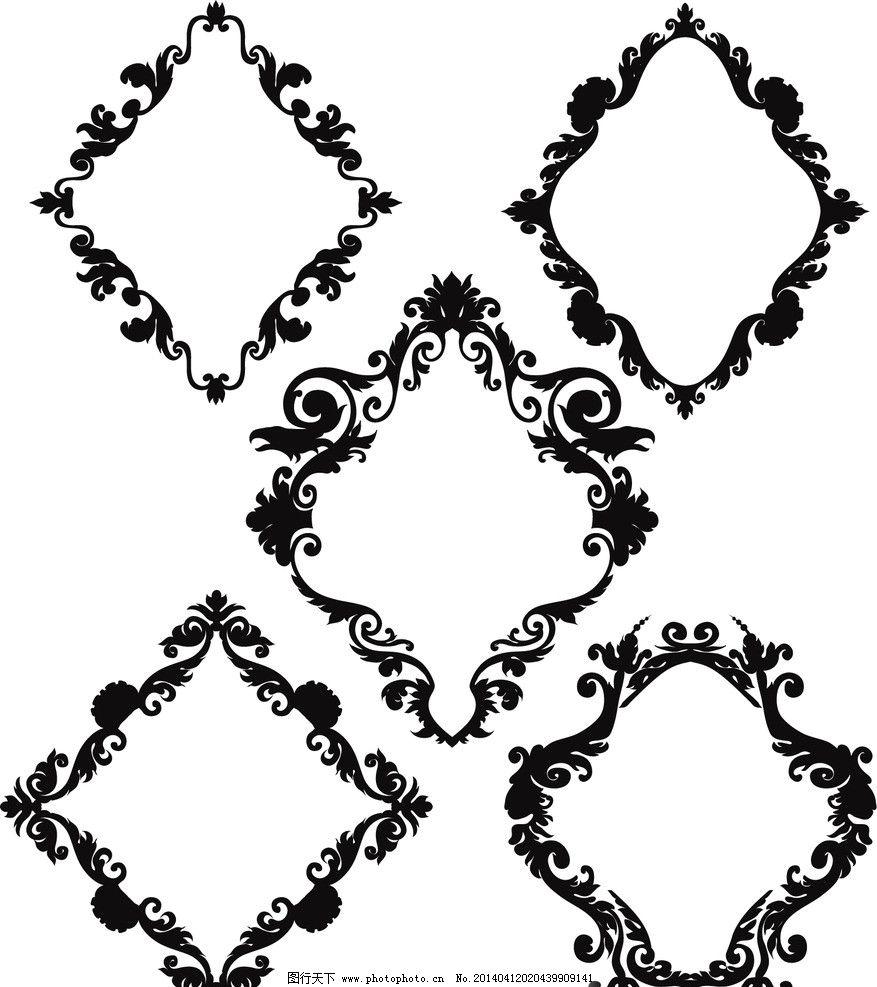 手绘 手绘花纹 精美花纹 王冠 皇冠 手绘花边 矢量 边框主题 边框相框