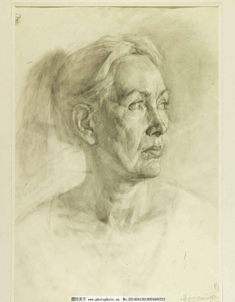 素描肖像 苏联 俄罗斯 列宾美术学院 高清素描 素描头像 人物头像