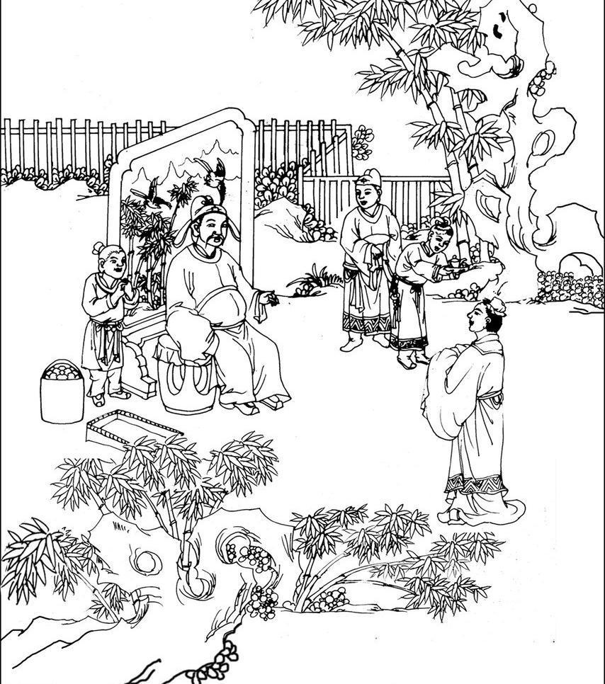 孔子讲学铜雕塑