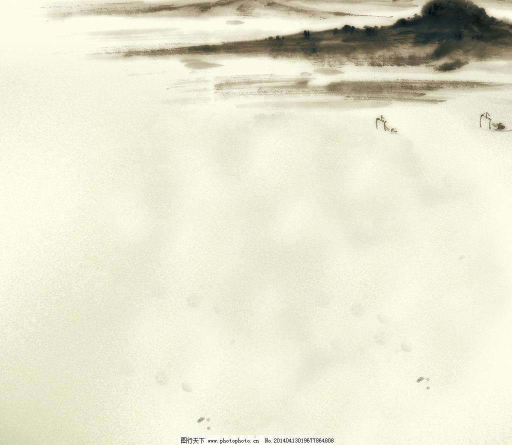 设计 水墨风景 水墨画 山水画背景设计素材 山水画背景模板下载 山水