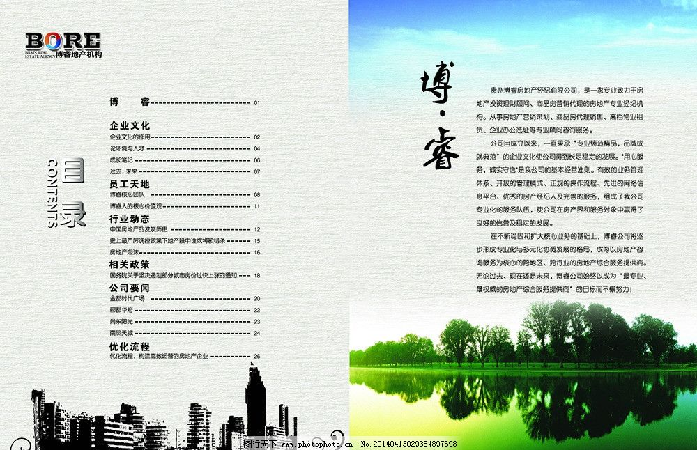 地产目录排版图片