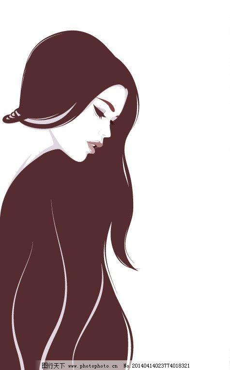 潮流 设计 都市美女 青春美少女 美少女 性感美女 女子 姑娘 手绘 小