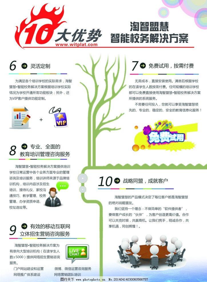 十大优势解决方案 校务 教育 宣传单 传单设计 活动宣传单 活动宣设计