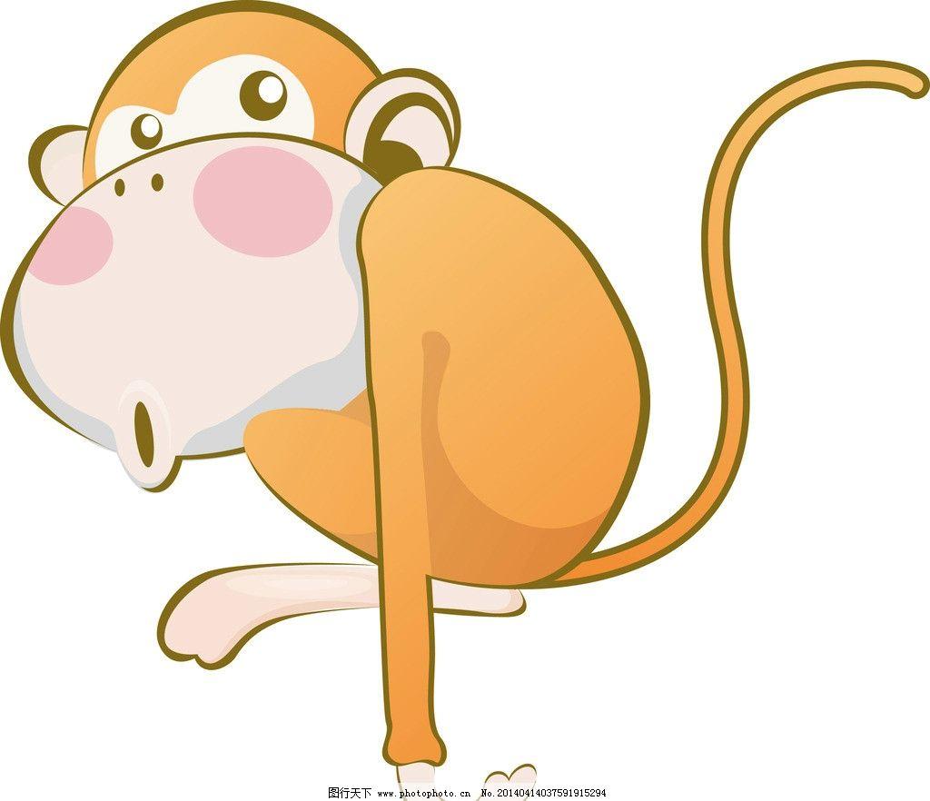 猴子 动物 插画 可爱 卡通