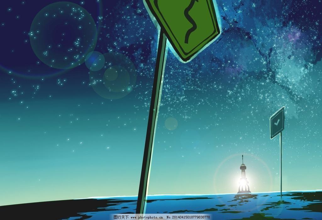 动漫风景 动漫壁纸 动漫场景 动漫动画 风景漫画 路牌 手绘 动漫风景