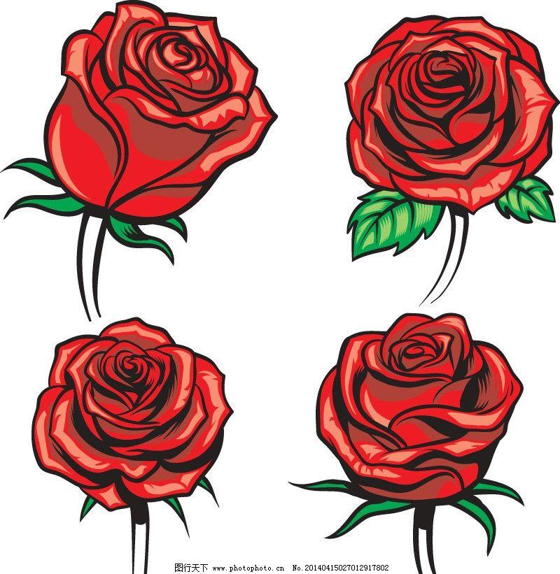 手绘玫瑰花 手绘花卉 手绘花纹 玫瑰花 红玫瑰 手绘 植物花纹 精美