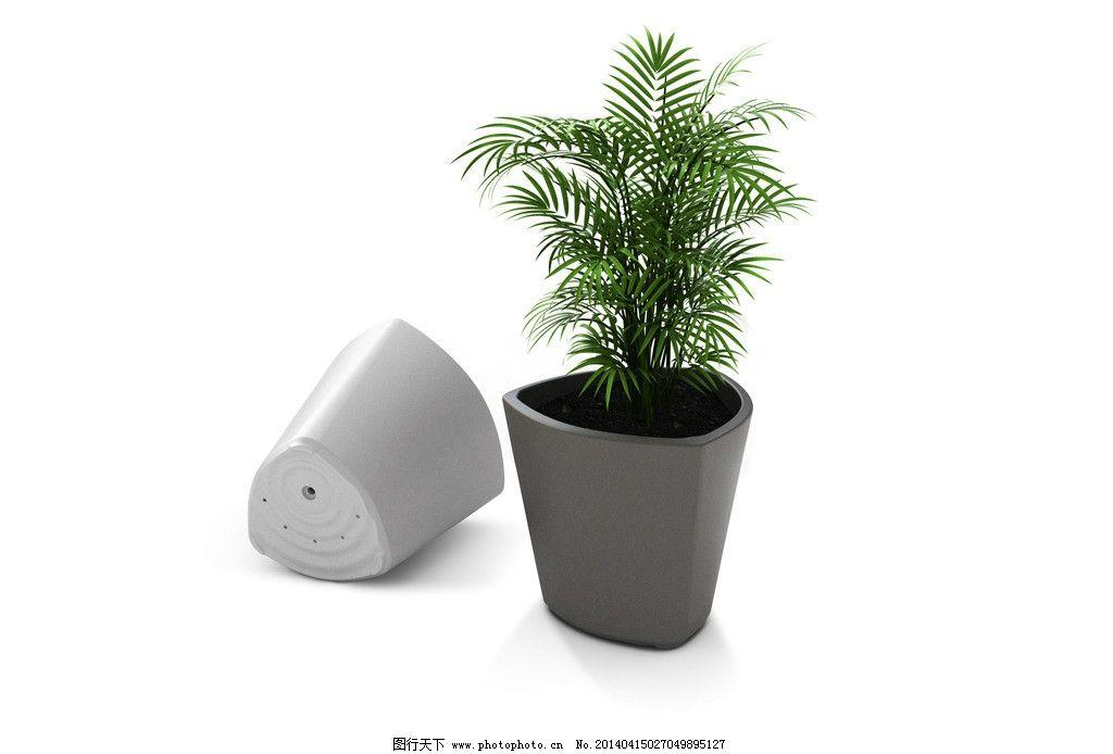 盆景 三角花盆 漏水孔 高清 白色背景 花草 生物世界 设计 72dpi jpg