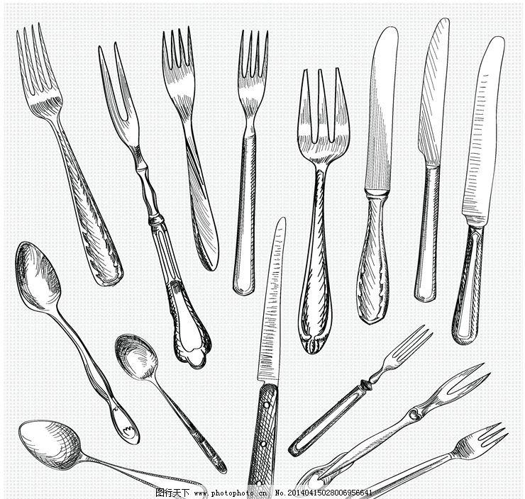 西餐餐具刀叉图片图片