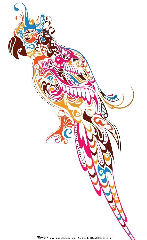鹦鹉手绘风qq头像