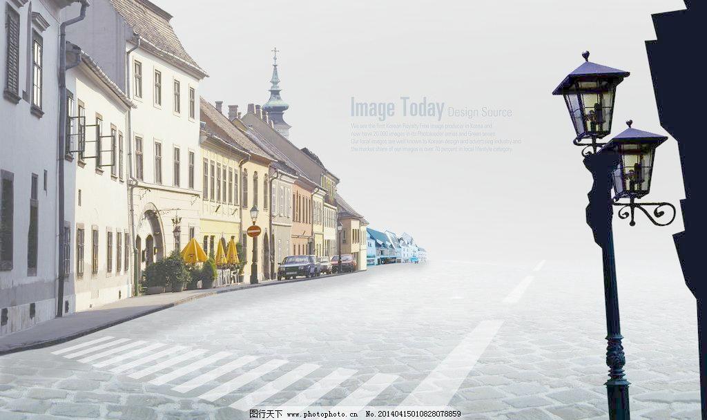 欧式街道图片_其他_装饰素材