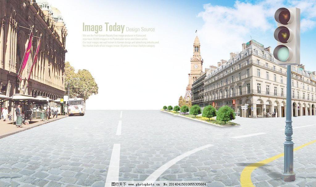 欧式街道风情图片