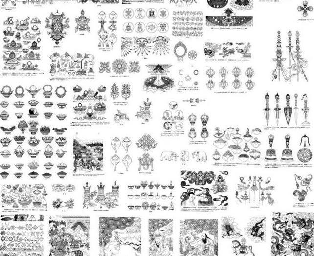 藏传佛教吉祥图案图片图片