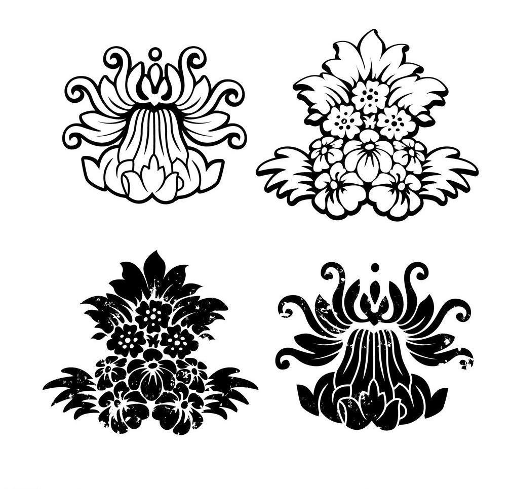 花朵图标图片_传统艺术_文化艺术_图行天下图库
