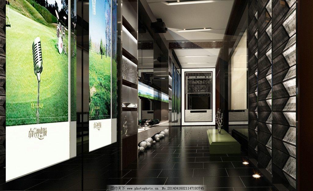 售楼部效果图 售楼部        背景墙 3d 走廊 3d作品 3d设计 设计 72