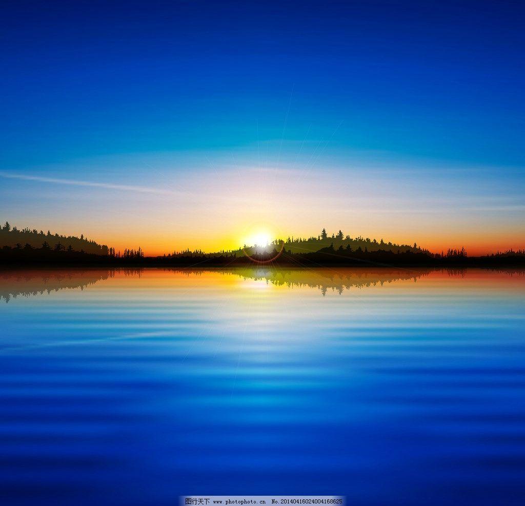 日落大自然风景美女
