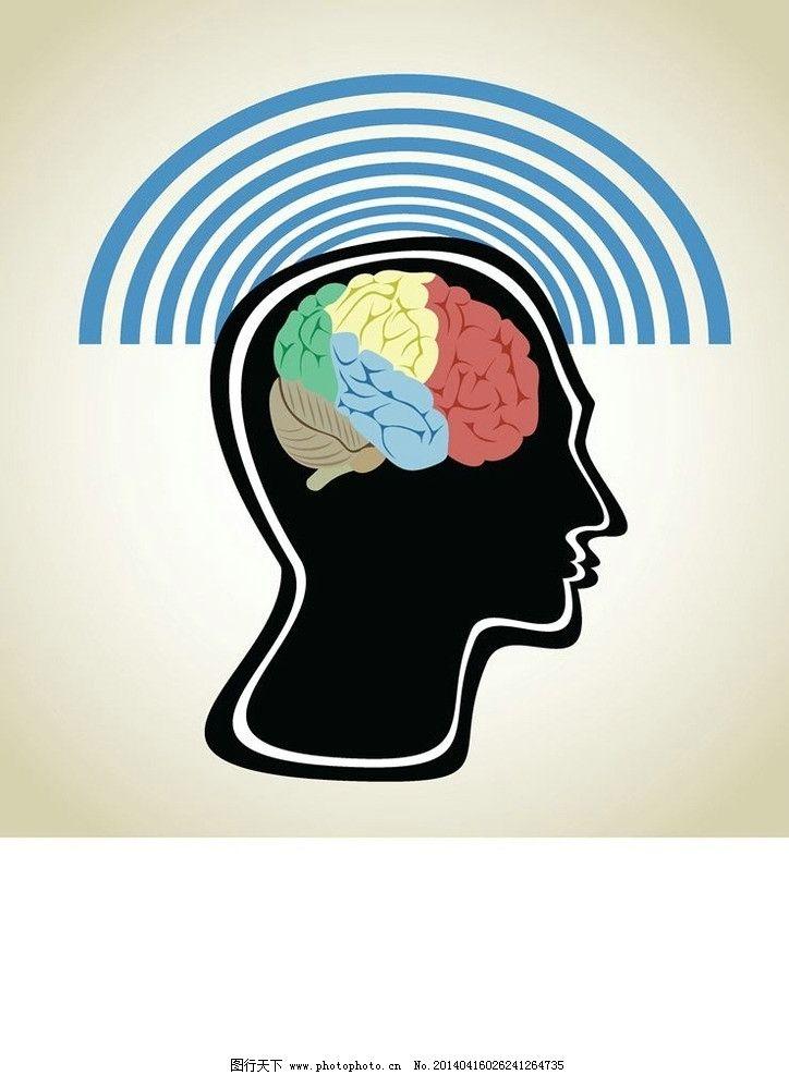 人脑大脑结构设计 脑细胞 医疗 医学 时尚背景 绚丽背景 背景素材