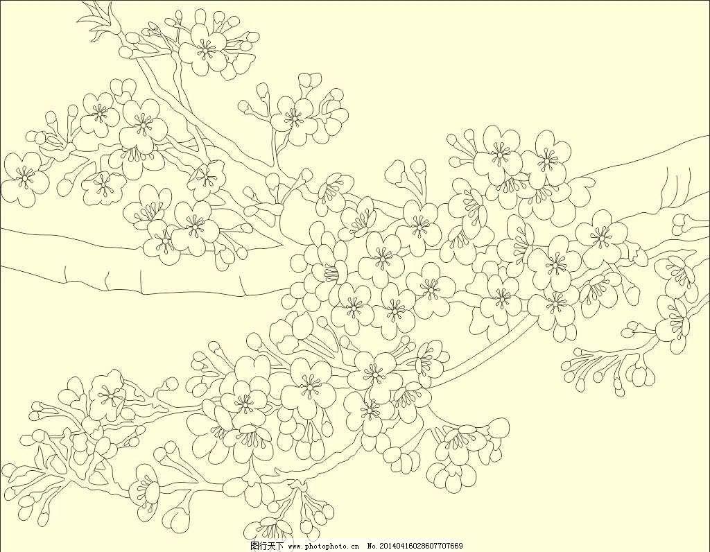 梅花的图片简笔画彩色-梅花图片简笔画手绘,梅花儿童画图片大全,风景