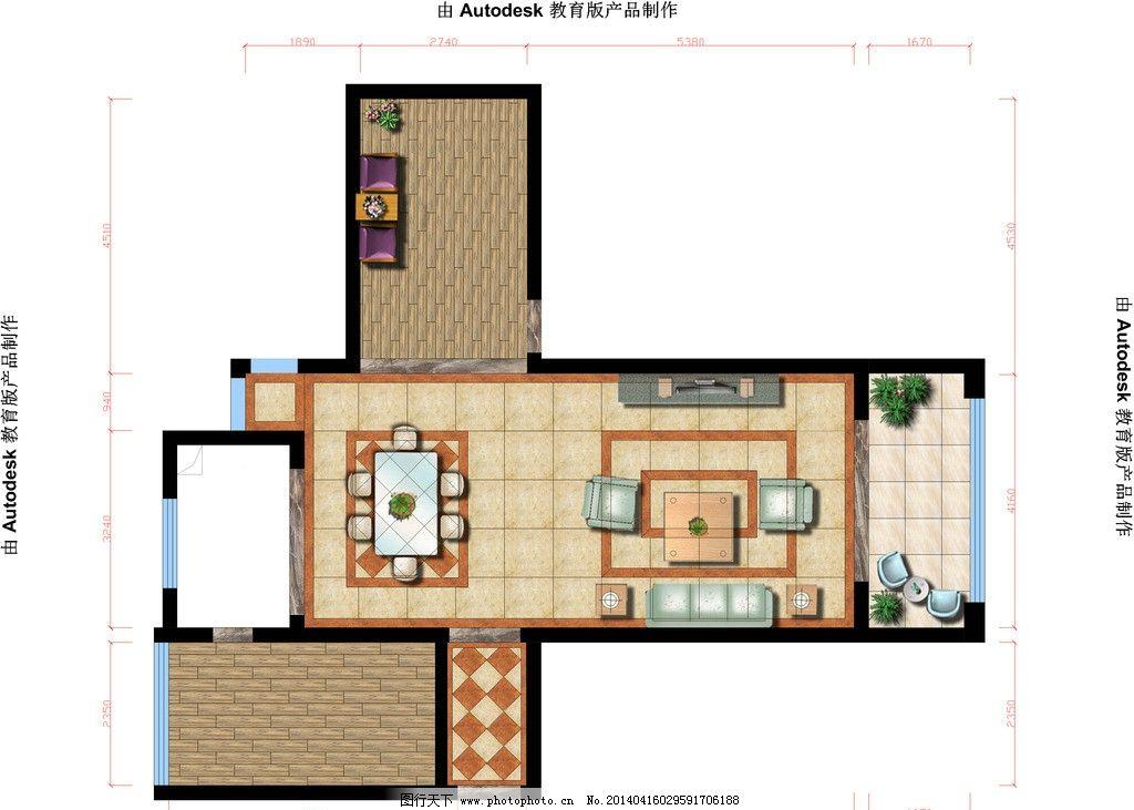 ps室内不用图片平面,房地产彩图广告设计模CAD直接打开新建广告以后绘制图片