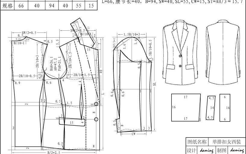西装 设计手绘图片