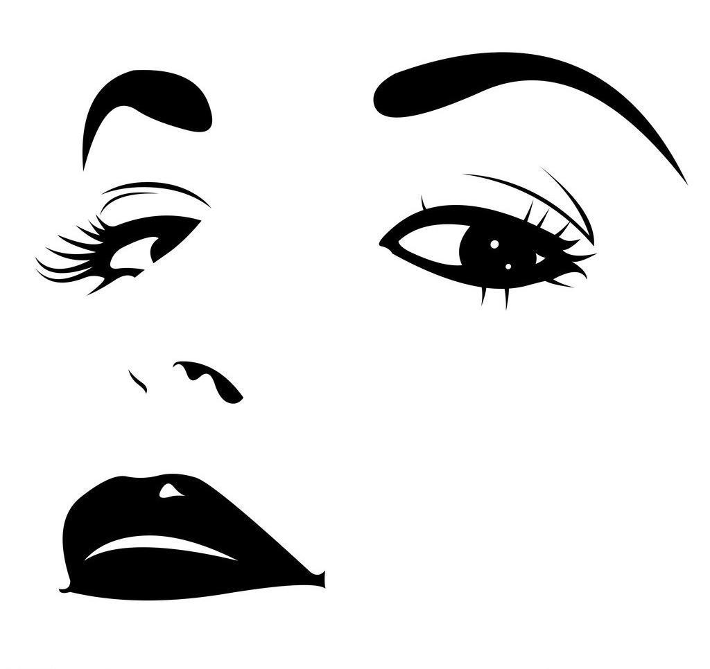手绘美女图片,妇女女性 脸部 女孩 女人 女生 女子-图