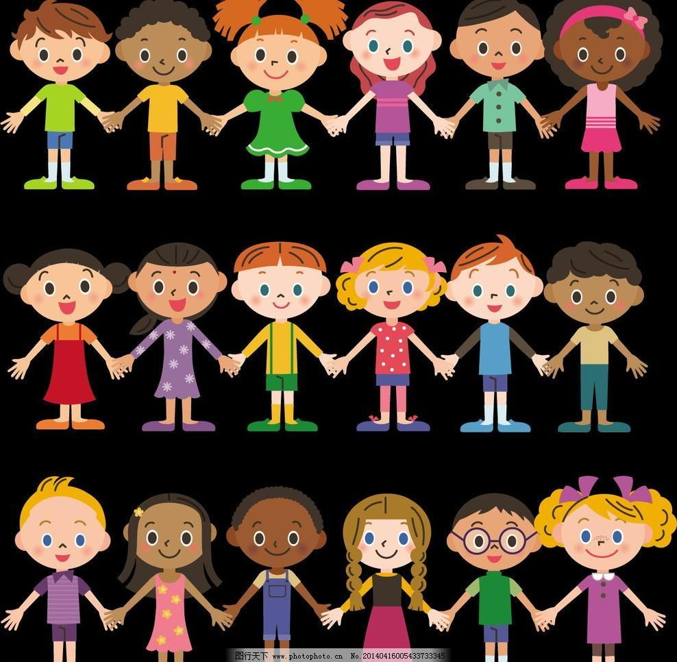 卡通儿童矢量素材 卡通儿童模板下载 卡通儿童 卡通人物 儿童 学生