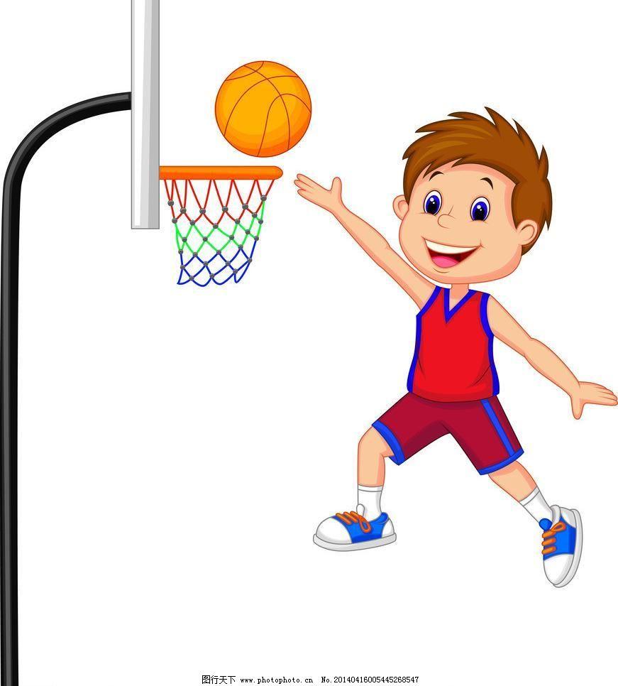 小运动员 打篮球 卡通乐园 儿童绘画 手绘 小男孩 卡通插画 卡通人物