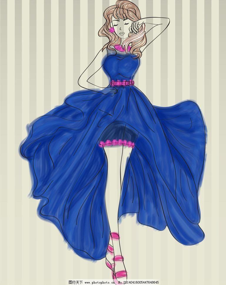 各种古装裙手绘图片